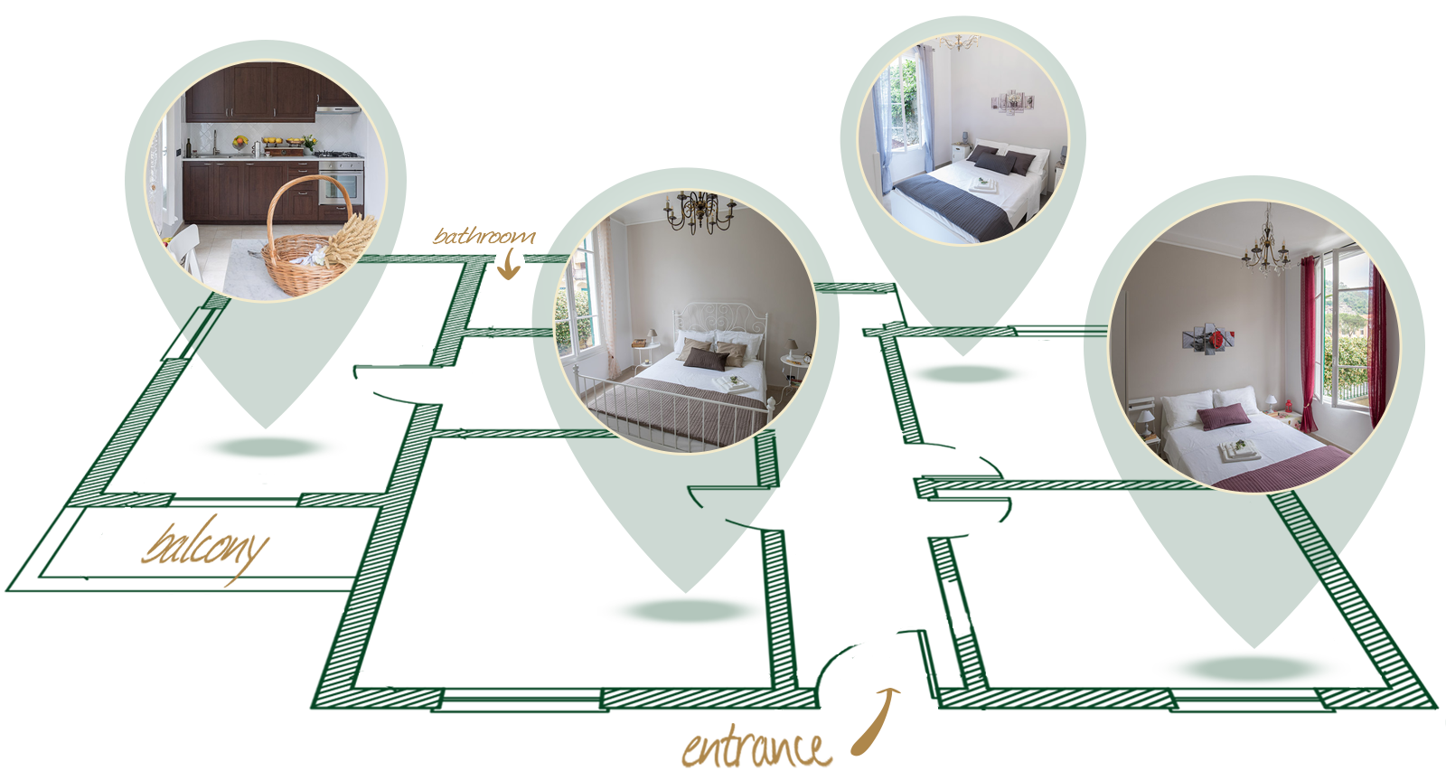 Holiday apartment Dolceacqua - planimetria 3D
