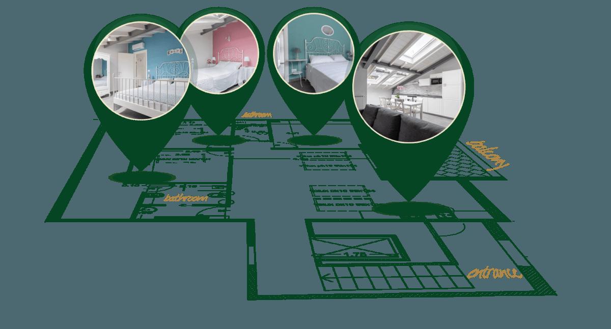 Casa vacanze Dolceacqua - planimetria 3D